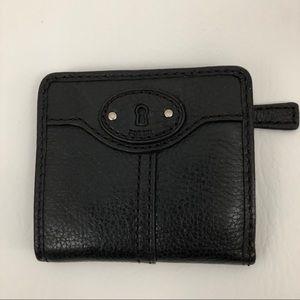 Fossil Bifold Women's Leather Wallet Black